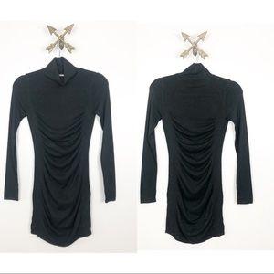 Express Black Long Sleeve Turtleneck Sweater Dress